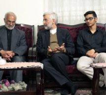 دیدار دکتر جلیلی با خانواده شهید خبرنگار مدافع حرم، محسن خزایی و بازدید از حاشیه شهر زاهدان+تصاویر