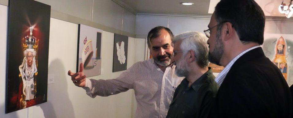 بازدید دکتر جلیلی از نمایشگاه کارتون و کاریکاتور «KEEP CALM I AM THE QUEEN»